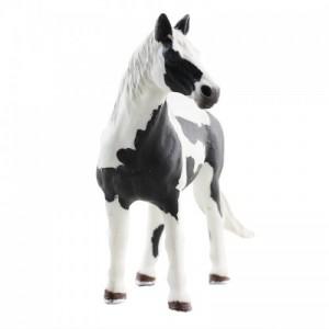 玩模乐仿真动物模型 儿童玩具塑胶白黑马静态模型批发