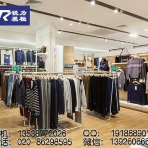 服装店装修设计男装店展示道具展示架供应
