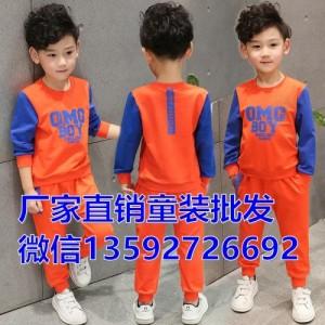 纯棉新款春秋童装中大童女童套装儿童卫衣套装长袖韩版童套装