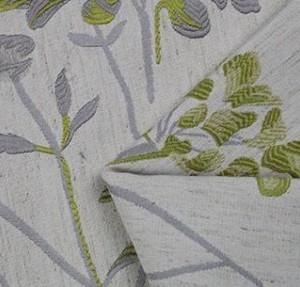 武汉色织梭织花朵提花面料F05838订做