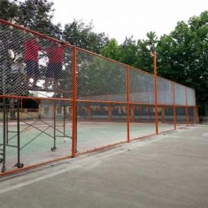 篮球场包塑勾花网围栏  墨绿色勾花网  养殖用包塑勾花网