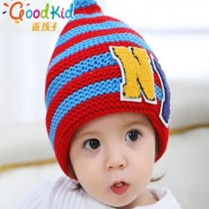宝宝毛线针织帽儿童帽子_义乌加绒帽子批发