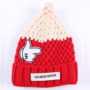 小鹿婴儿毛球护耳可爱针织帽子儿童帽_广州儿童帽子批发
