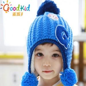 小鹿婴儿毛球护耳可爱针织帽子儿童帽_夏天儿童帽子批发