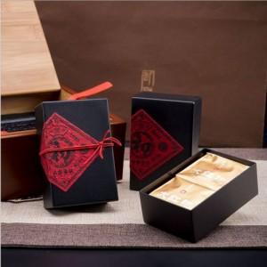 广州义统包装 生铁初16103竹盒3方罐茶叶包装礼盒定制批发