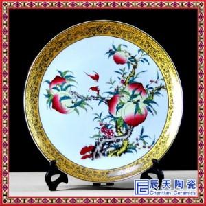 古典粉彩装饰盘   手绘仿元青花瓷盘   现代简约摆件挂盘