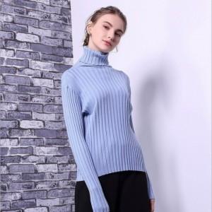 秋冬新款高领毛衣女欧美套头长袖宽松针织打底衫百搭针织衫