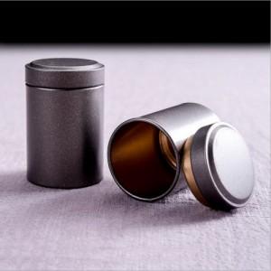 广州义统包装 马口铁9045润物单泡复古小茶叶圆罐迷你随身罐