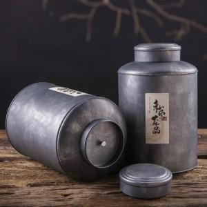 广州义统包装 马口铁9170润物素茶叶罐桶大花茶礼盒包装1斤