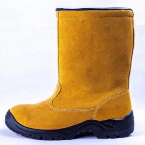 供应劳保鞋高靴防砸防刺耐油防滑油田专用靴9802