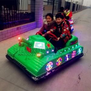 逼真造型坦克碰碰车发光动物碰碰车儿童益智玩具车厂家