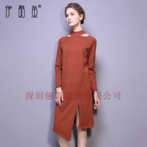 深圳春款高档女装针织连衣裙 工厂微商货源