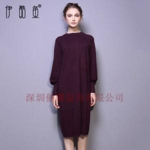 深圳春款女装波西米亚连衣裙针织长裙批发 女神百搭