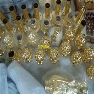洛阳市五酒店装饰玫瑰金铝板镂空雕花楼梯护栏