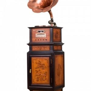 雨之巷仿古留声机专卖棕色YZX1608欧式古典家居饰品