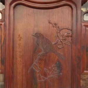 红木家具 实木家具 实木双人床 可定制