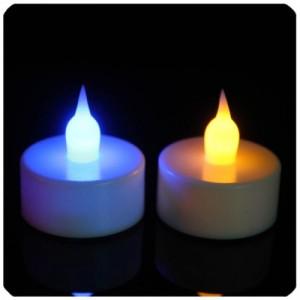 七彩led电子蜡烛灯 仿真小蜡烛生日婚庆装饰电子产品水底灯