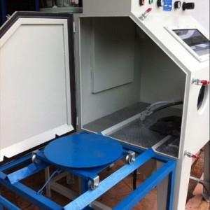 喷砂机厂家 推车带转盘手动喷砂机 汽车配件翻新 磨具除锈