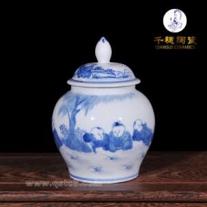 茶叶礼盒陶瓷罐仿古定制图案 装红枣罐子储蓄罐礼品 价钱