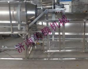 膨化食品调味机械 食品撒粉生产设备 宠物饲料加工喷油生产线