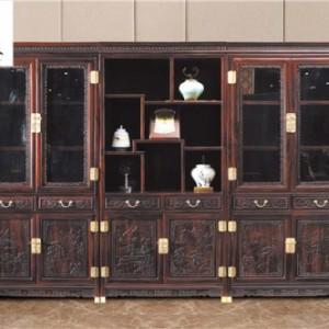 组合书柜-高档红木家具-国标红木家具-清式家具-红木家具收购