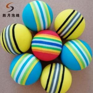 厂家销售eva儿童玩具球 eva宠物玩具球 彩虹球