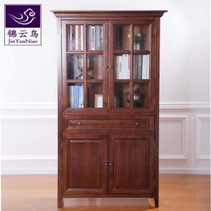 武汉现代家具锦云鸟美式实木书柜现代简约白蜡木书柜北欧简美书柜