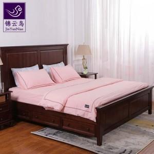 武汉品牌家具锦云鸟美式实木大板床简约家用床欧式主卧原木床