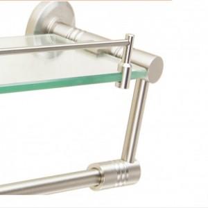 厂家定做 浴室太空铝玻璃单层置物架化妆台 双层可来样定制生产
