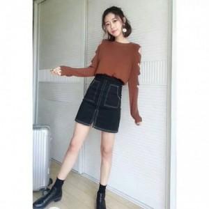 中高档女式打底衫 品牌折扣女装 库存服装针织衫毛衣