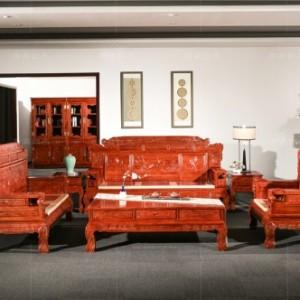 老挝红酸枝家具-红木古典家具价格-刺猬紫檀家具图片