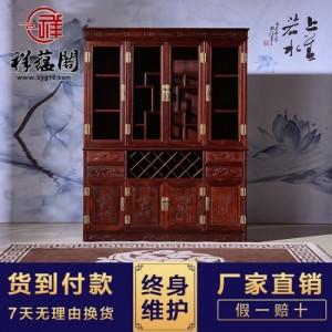 中式红木酒柜 红木红酒柜 红木色酒柜批发 祥蕴阁红木家具定制