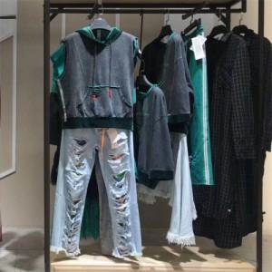 拓谷2018年春季新款连衣裙衬衫针织衫女装组合包品牌女装尾货