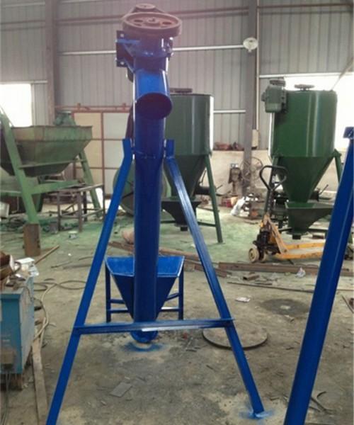 珲春市无缝管螺旋式提升机 面粉装灌用不锈钢提升机
