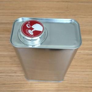 方铁罐1L油样罐化工溶剂罐油漆罐1kg马口铁罐茶叶罐