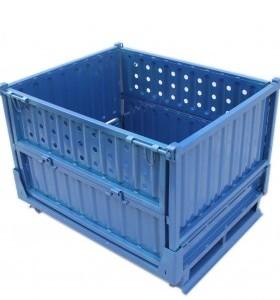 供应湖北襄阳汽车零配件存贮运输用钢制金属周转箱物料箱铁框