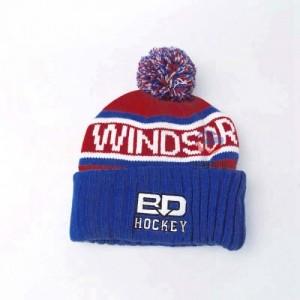 提花字母logo毛球针织帽 翻边毛线帽子定制工厂 冷帽订做