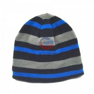 男士户外登山滑雪保暖针织帽 毛线帽子OEM贴牌定制厂家