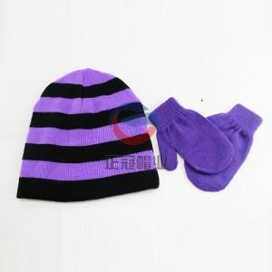 四角套头护耳毛线针织帽 东莞正冠帽子厂家定制冷帽