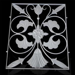 四川护栏配件供应阳台护栏配件 500*600金穗花 铸铝配件