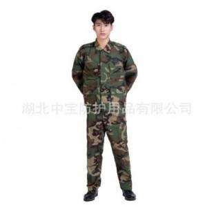 湖北中宝学生军训迷彩服套装户外拓展透气耐磨迷彩工作服套装