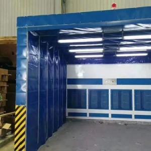 工业电动移动环保伸缩喷漆房轨道家具喷漆房汽车喷漆打磨房标准型