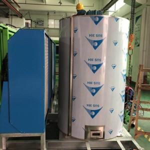 日产15吨大型化工颜料降温系统 搅拌站片冰机 工业制冰机