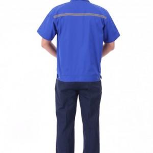 夏季工作服套装男薄款短袖耐磨汽修服长袖