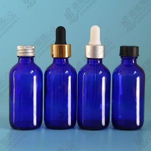 恩承玻璃60ml波斯顿瓶带铝盖塑料盖胶头滴管保健品口服液瓶