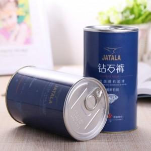 广州封铁盖纸筒包装  易拉盖圆筒罐  茶叶扣盖纸筒