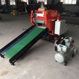 养殖业机械 青贮打捆包膜一体机 自动输送压块包膜机 农补机械