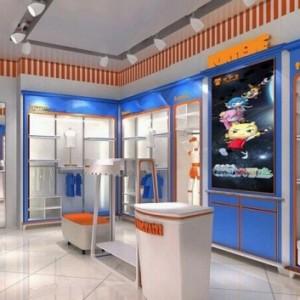 成都童装店展柜展示柜货柜货架工厂童装展柜展示柜货柜