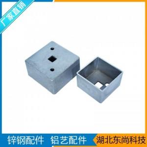广东佛山铝合金护栏五金配件-32固定座阳台栏杆铸铝外接头配件