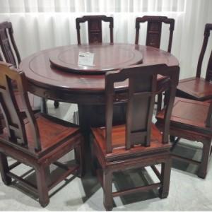 东阳红木品牌红木印尼黑酸枝家具1.38国色天香圆台厂家直销